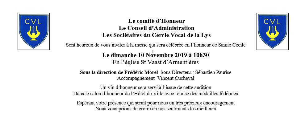 Ste Cécile 2019