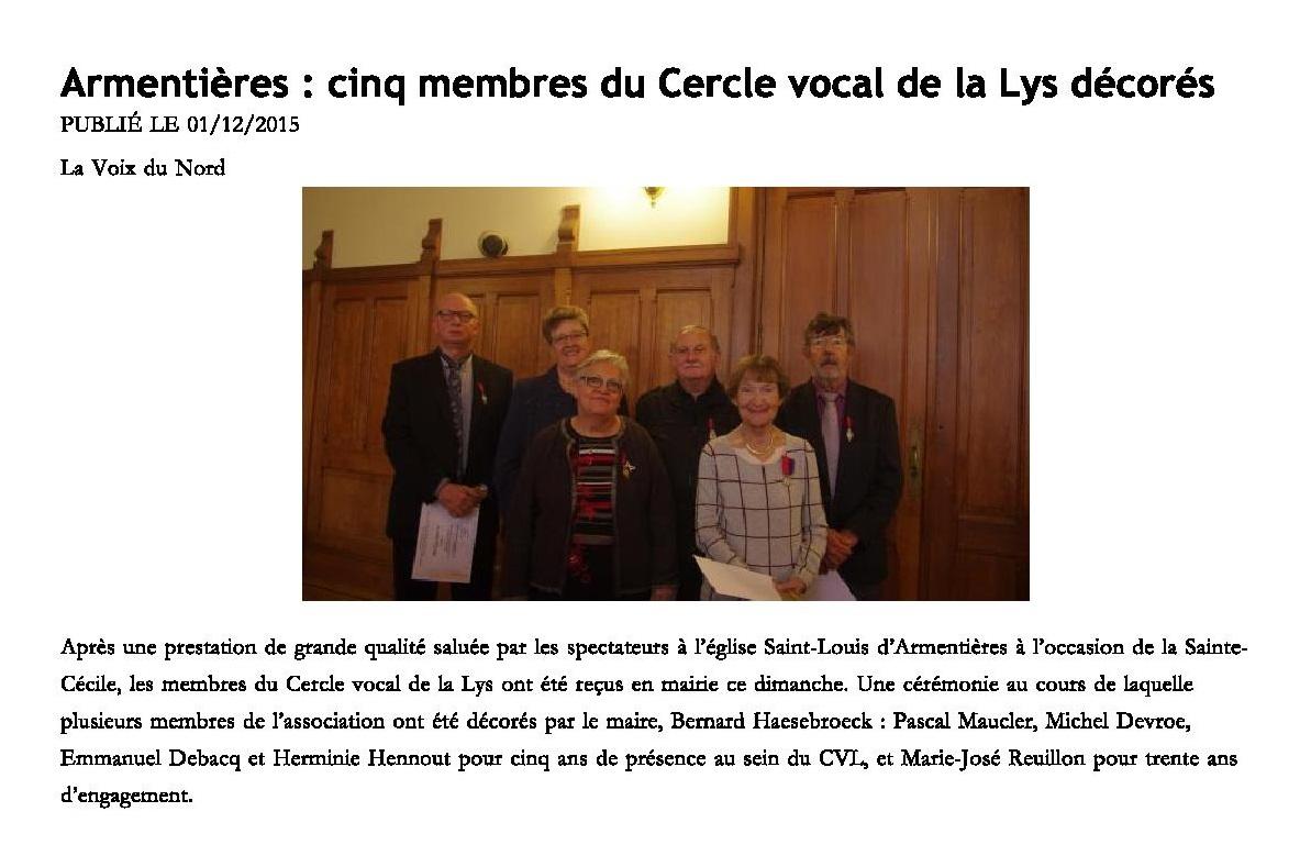 Ste Cécile 2015