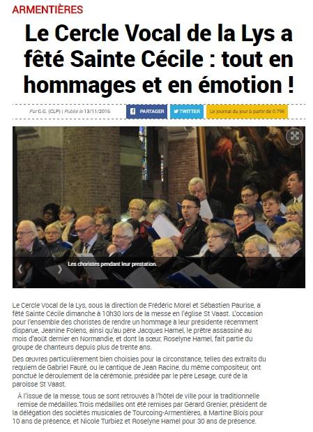 Ste Cécile 2016